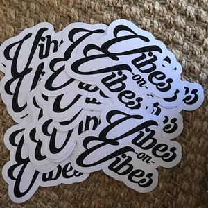"SD Collective Mercantile Accessories - NEW 8"" waterproof VIBES surf skate snow sticker"